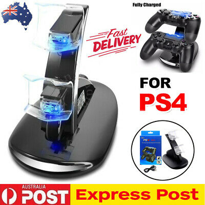 For PlayStation PS4 Controller LED Charger Dock Station Fast Charging Stand AU
