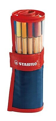 Stabilo  8825-021  - Penna fineliner point 88 - Roller Set Colori Ass. - Conf. 2