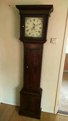 ANTIQUE GRANDFATHER CLOCK WITH CASE MECHANISM, WEIGHTS AND PENDULUM Thomas Honey