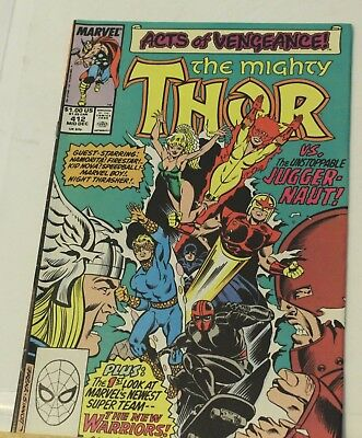 thor #412 acts of vengeance 1st appearance new warriors 1989