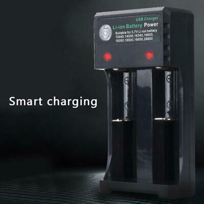 2 Slots Smart Battery Charger 3.7V 18650 Rechargeable Li-Ion Battery USB Case