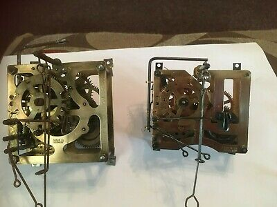 Cuckoo Clock spares 2 Brass Movements ONE STAMPED BY G.M.ANGEM AND MADE GERMANY