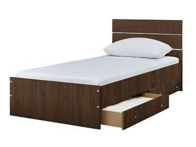 Bedford Single 2 Drawer Bed Frame - Walnut