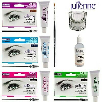 Julienne Eyebrow Eyelash Tint Tinting Dye Kit Brush Dish Eye Lashes Developer