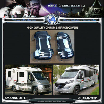 FIAT DUCATO CHROME MIRROR COVERS 3yr GUARANTEE 2006-2019 MEDIUM ARM MOTORHOME