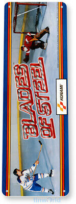 TIN SIGN C461 Blades Of Steel Arcade Game Room Shop Marquee Metal Sign Decor