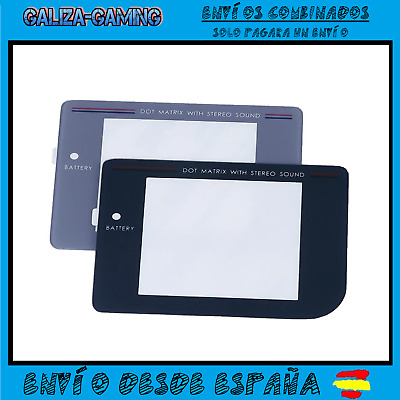 Pantalla Plastico Game Boy Clasica Repuesto Gameboy DMG-01 GRIS NEGRO GB Lente