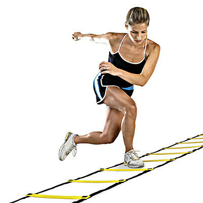 Agility Speed Sport Tranning Ladder 4M - Soccer Fitness Boxing 8 Rungs Bag PDH