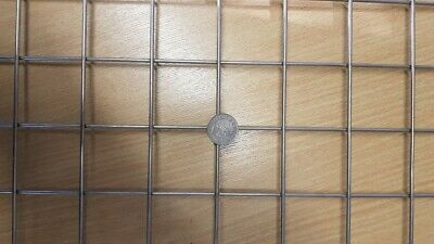 """Stainless Steel 2"""" x 2"""" x 3mm Welded Wire Mesh Panel 22"""" x 18"""" (56cm x 46cm)"""