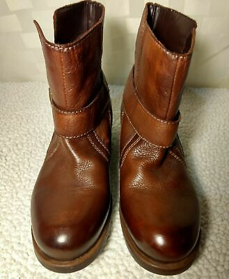 be5be5fb9b74 MIZ MOOZ BROWN Leather Ankle Boots Size 6 Denise Button -  29.91 ...