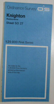 1957 Old OS Ordnance Survey 1:25000 First Series Provision Map SO 27 Knighton