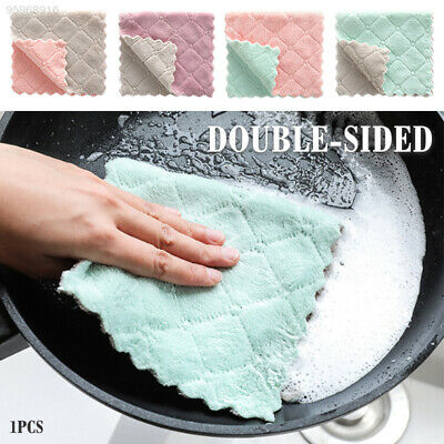 353E Durable Tools Household Kitchen Scouring Dish Towel Cloths Home Microfiber