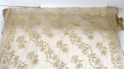 Antique 19th Century Ottoman gold thread embroidery textile Turkish / Persian