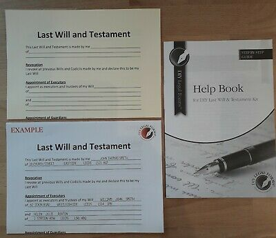 THE VERY SIMPLE, LAST WILL and TESTAMENT KIT,  UK Legally valid.