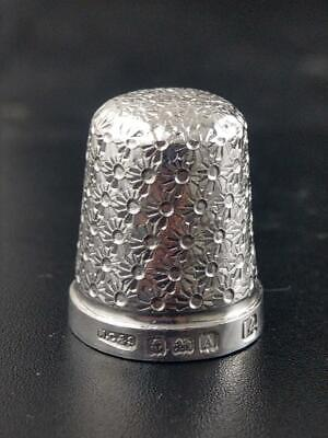 Henry Griffith and Sons Birmingham Silver Thimble c1925