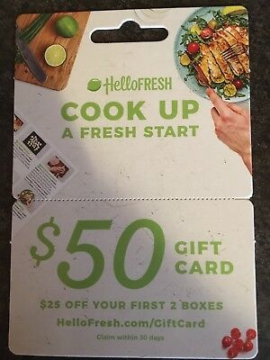 Get a 6 $50 Off Hello Fresh Gift Card!