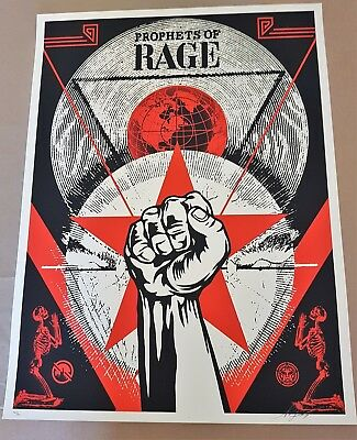 Shepard Fairey (OBEY) - Prophets of Rage - New Day Rising - (S/N/600) - 2017
