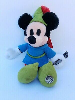 NEW Brave Little Tailor Mickey Mouse Limited Edition Bean Bag Plush with Tags