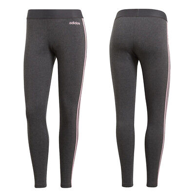 Leggings ADIDAS DU0682 PANTALONI W E 3S TIGHT Grey tre strisce pink