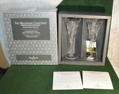 Waterford Crystal The Millennium Five Universal Toasting Flutes
