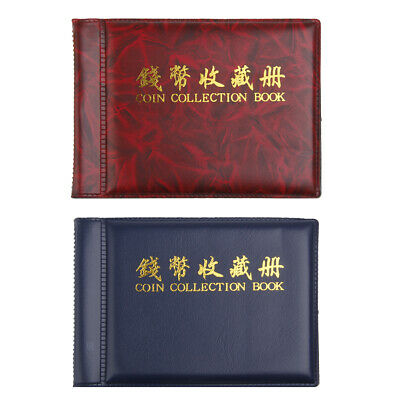 MagiDeal 2 Coin Album Pocket Wallet Currency Penny Display 60 Holder 10 Page
