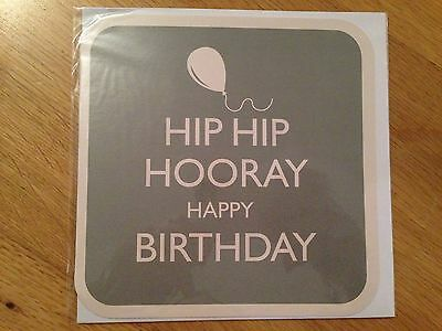 Hip Hip Hooray Happy Birthday Card - Keep Calm Carry On Style (108)