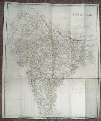 Map of India, J and C Walker, 1860