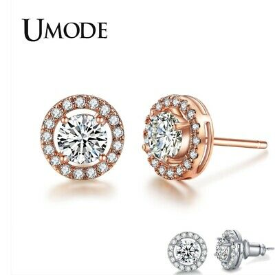 UMODE New Trendy Cute CZ Crystal Stud Earrings for Women Fashion Engagement