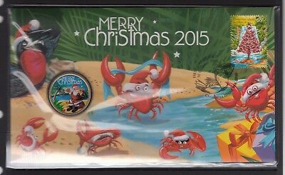 CHRISTMAS ISLAND 2015 Christmas PNC in Perfect Condition