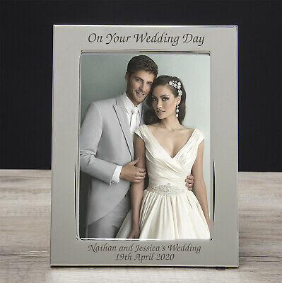 PERSONALISED WEDDING DAY PHOTO Picture FRAME THANK YOU Gifts for Presents Party