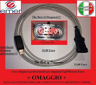 Cavo diagnosi usb Professionale per centraline Gpl/Metano Emer e Emer West Port