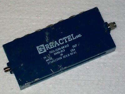 REACTEL INC. microwave filter 1130 mhz 60 mhz bandwidth 7C11-1130-60S12