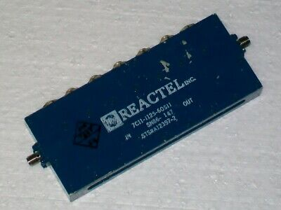 REACTEL INC. microwave filter 1125 mhz 60 mhz bandwidth 7C11-1125-60S12