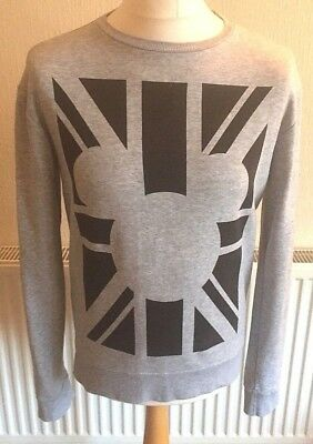 Official Disney Mickey Mouse Long Sleeved Sweatshirt Medium Lightweight Grey