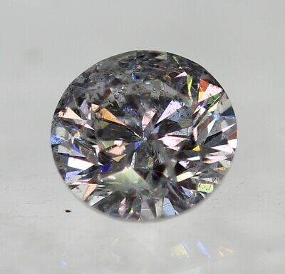 Certified 0.42 Carat F SI1 Round Brilliant Enhanced Natural Diamond 4.74mm 3VG