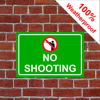 No shooting sign 5145RW extremely durable and weatherproof