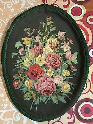 """Antique  French Aubusson Stayl Tapestry Decorative Table Mate 18"""" By 25"""""""