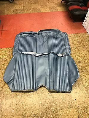 1969 Ford Mustang Coupe Standard Rear Seat Covers Blue