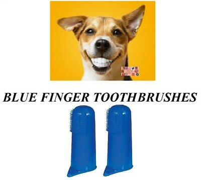 2 PET DOG CAT Finger Pro DENTAL Teeth RUBBER TOOTH BRUSH ORAL CARE Toothbrushes