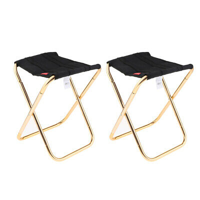 2 Pieces Fold Up Seat Train Fishing Chair Portable Chair Camping Seat