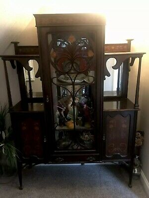 Original Art Nouveau Display Cabinet Possibly Shapland And Petter.