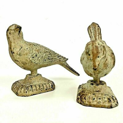 Pair of Antique Cast Iron French Bird Figure