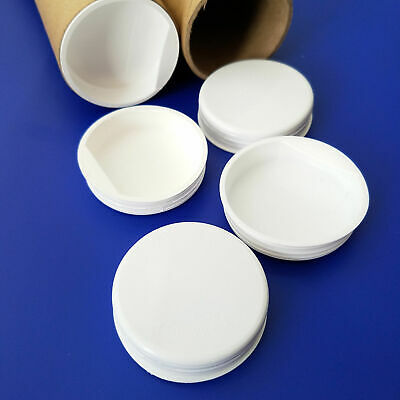 "2"" White Plastic End Caps for Shipping/Kraft Mailing/Poster Tubes, 20/50/100 Qty"