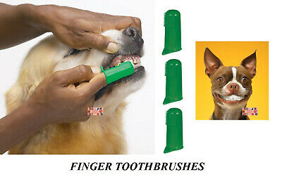 3 PET DOG CAT Finger Pro DENTAL Teeth RUBBER TOOTH BRUSH ORAL CARE Toothbrushes