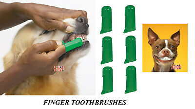 6 PET DOG CAT Finger Pro DENTAL Teeth RUBBER TOOTH BRUSH ORAL CARE Toothbrushes