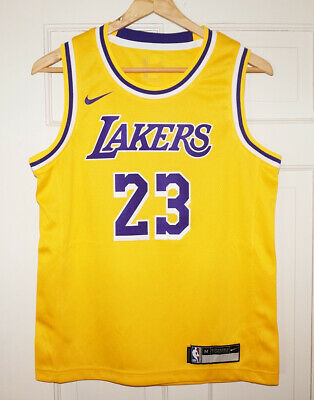 buy popular 743a7 f5c46 LEBRON JAMES LA Lakers Nike Authentic Icon Home Jersey 40 S ...