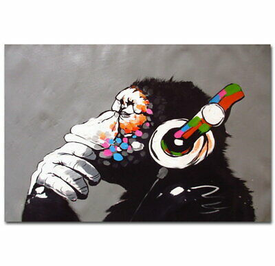 60380 Hip-Hop Banksy Street DJ Monkey Chimp Decor Wall Poster Print UK