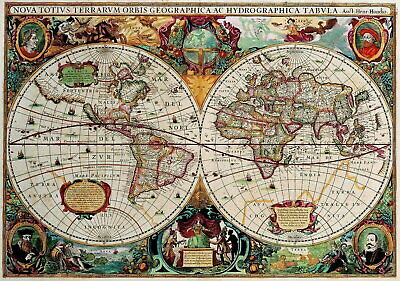 60797 Old World Map Classic Decor Wall Poster Print UK