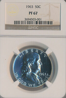 1963 Proof Franklin Silver Half Dollar **ngc Certified Pf 67**