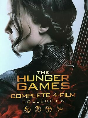 The Hunger Games Complete 4-Film Collection (Blu-Ray, 6 Disc Set)